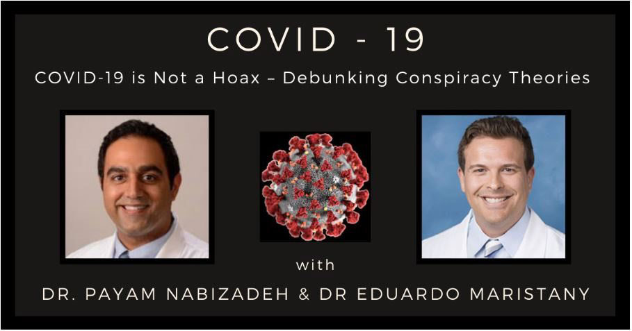 COVID-19 Blog Post Featured Image with Dr. Payam Nabizadeh and Eduardo Maristany