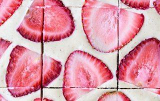 No-Bake Strawberry Shortcake Bars (Gluten Free, Paleo and Vegan)