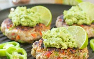 Chili-Lime Chicken Burgers with Avocado Salsa